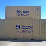 20' storage containers stacked