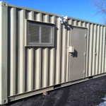 temporary offices: 20' unit, side view