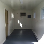 temporary offices: 20' unit, interior view