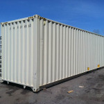 40' hi-cube storage container exterior view