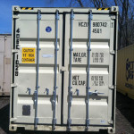 40' hi-cube storage container rear view