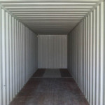 40' hi-cube storage container interior view