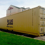 40' storage container on location