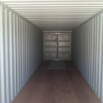 Interior of a 40' storage container.
