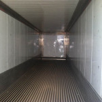 Interior of refrigerated trailer.