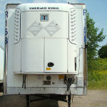 Nose of refrigerated trailer.
