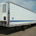 Exterior of refrigerated trailer.