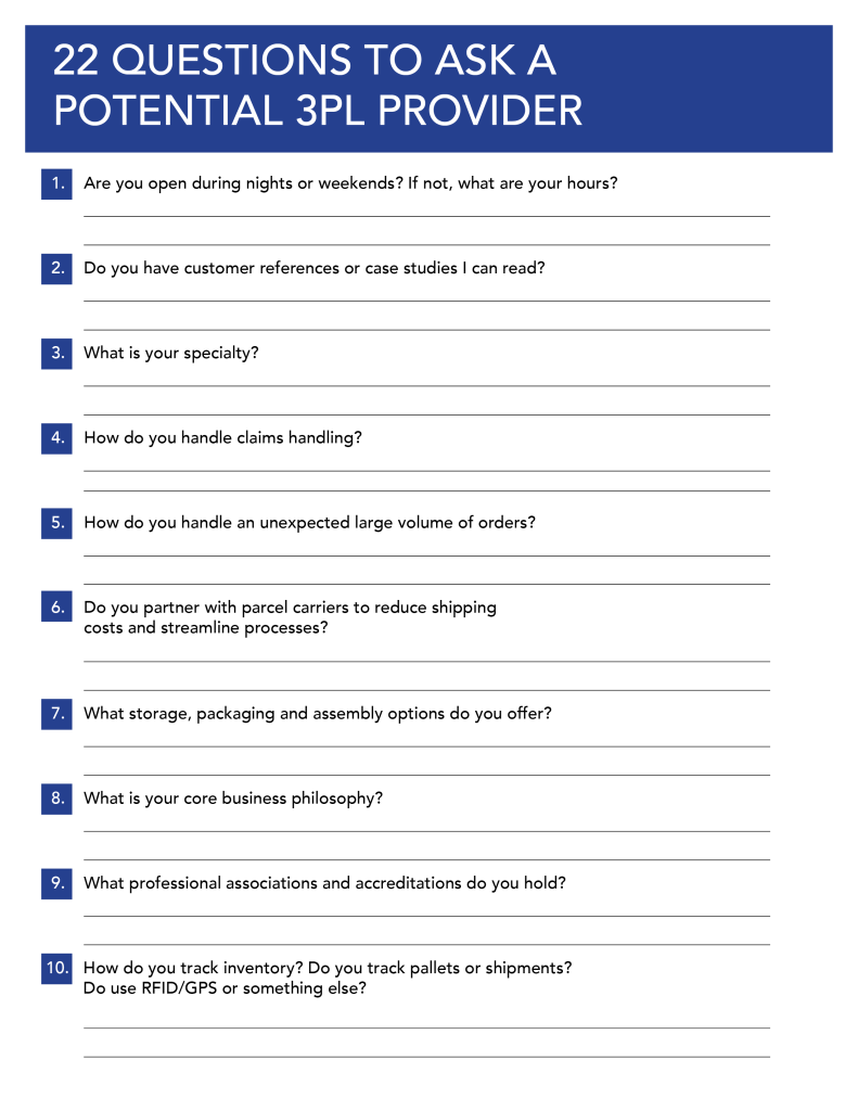 questions to ask a potential pl provider provider 22questionsnotesheet