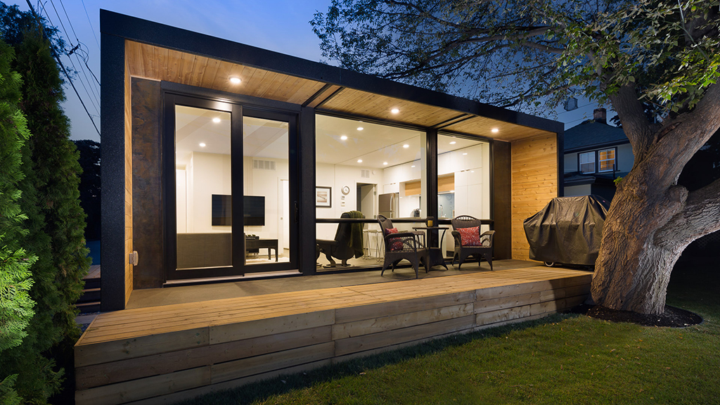 shipping container home glass