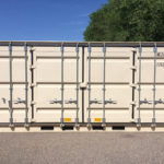 side view of 20' side-opening storage container