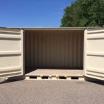 20' side-opening storage container mid door opening