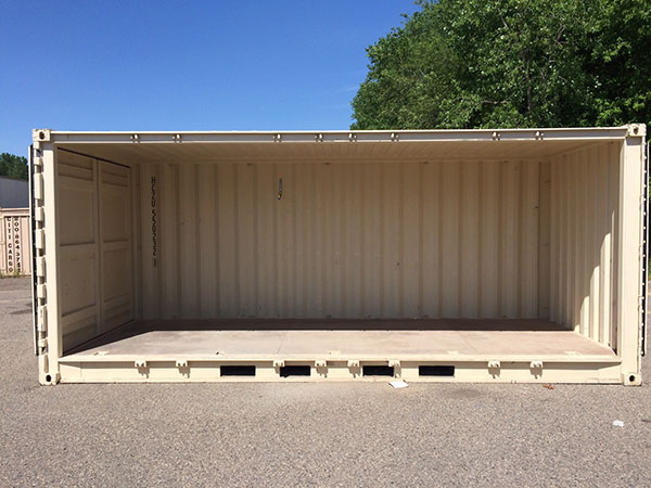 20 foot side opening container