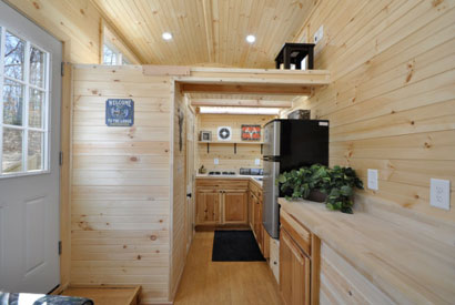 Shipping Container Cabin Interior