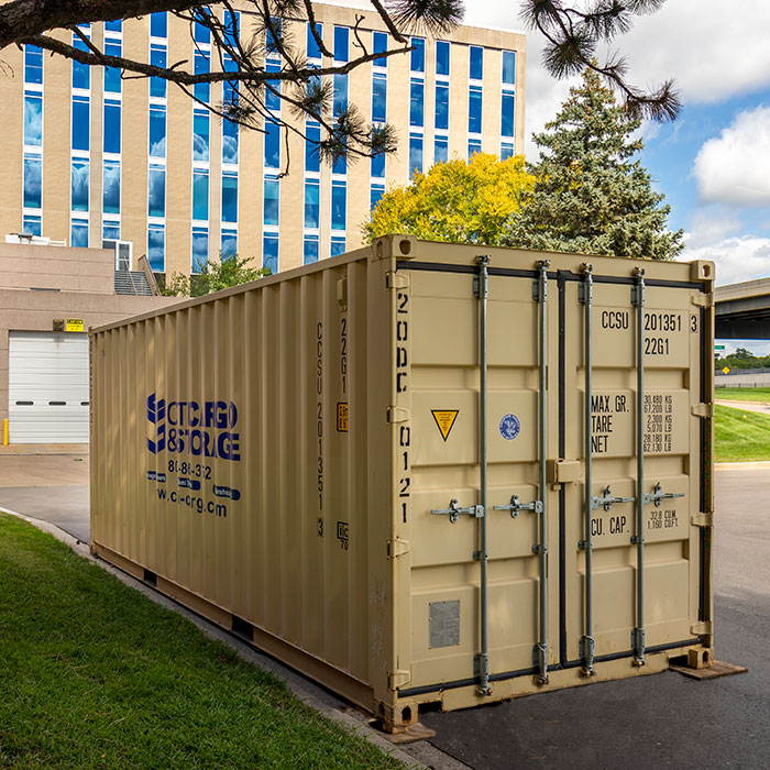 on-site storage container at business