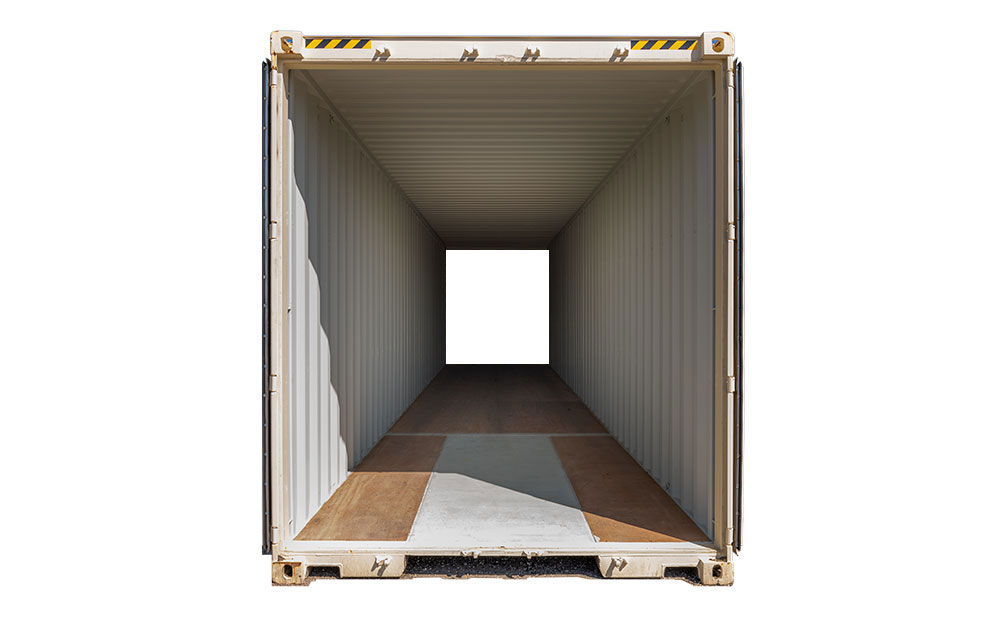 40 foot double end access container