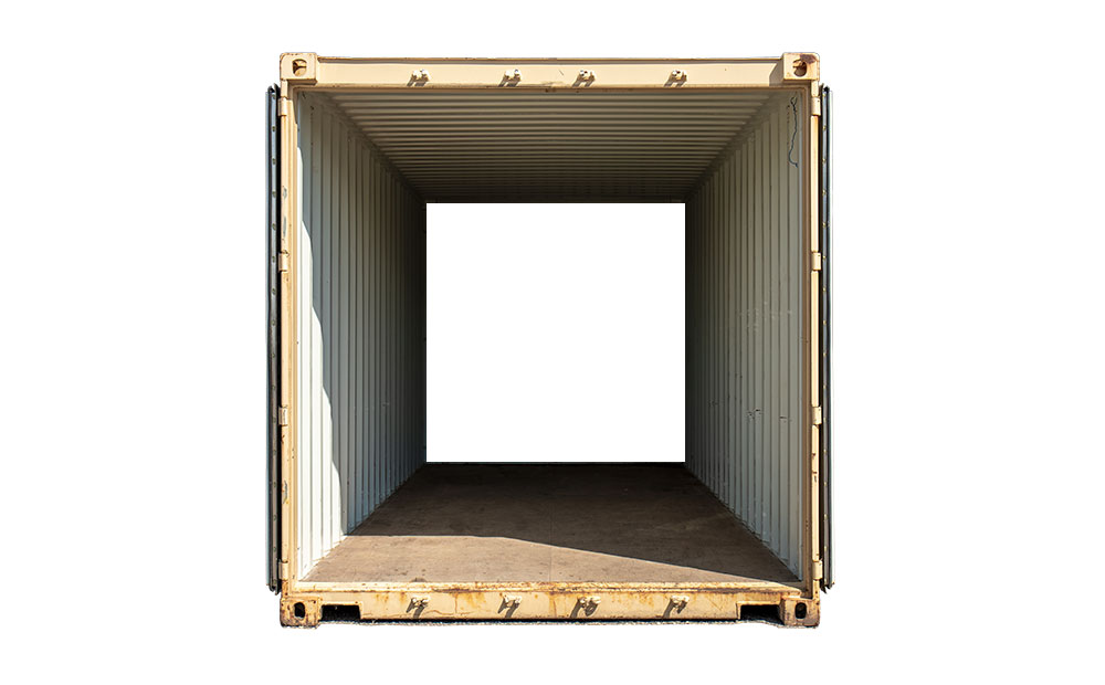 double end access storage container