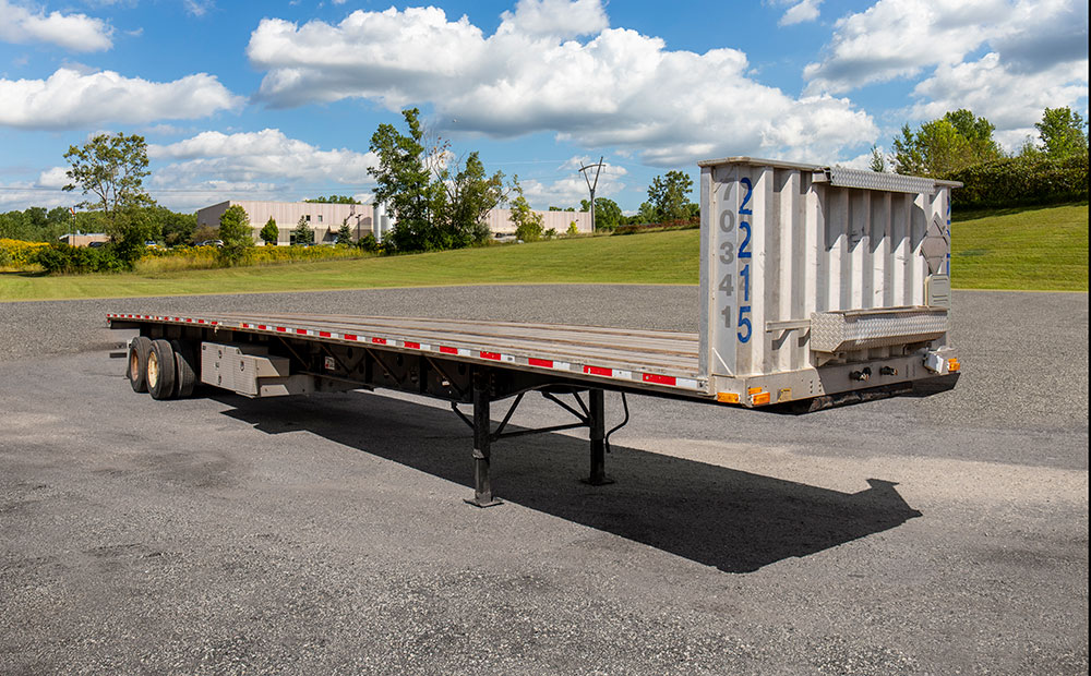 flatbed trailer side view