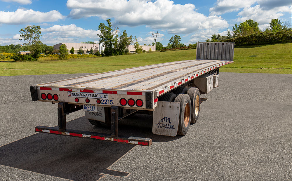 flatbed trailer rear view