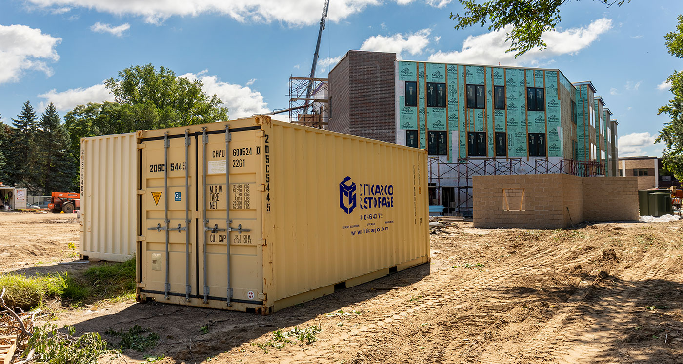 construction site storage container