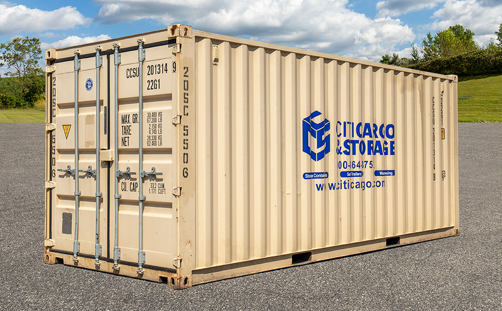 20 foot storage container side view