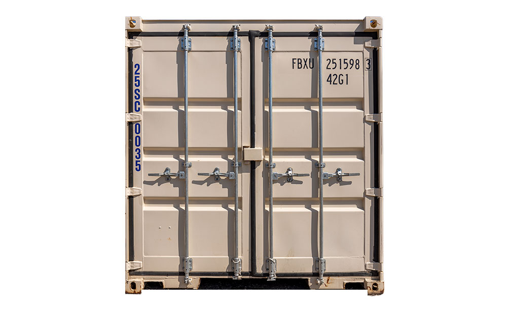 25 foot storage container front
