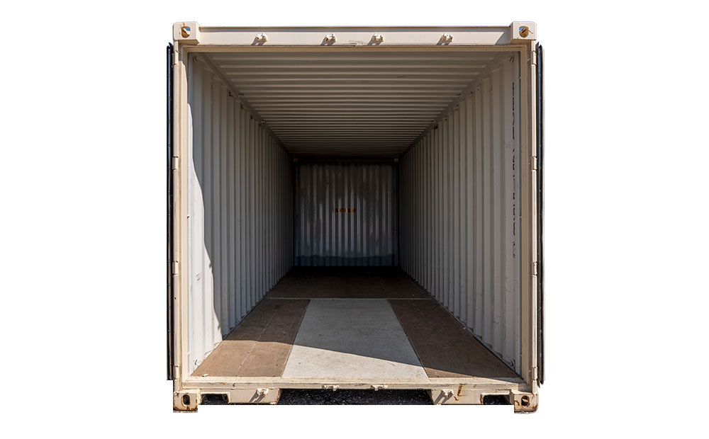 25 foot storage container interior