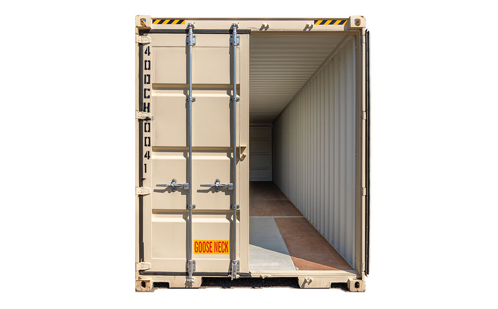 40 foot storage container door open