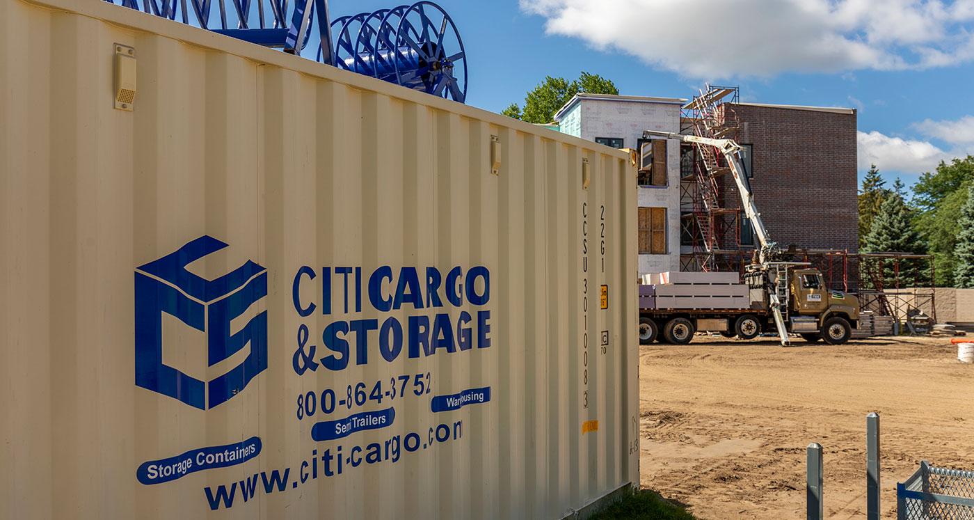 on-stie storage container