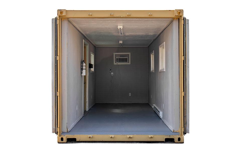 15 foot temporary office interior