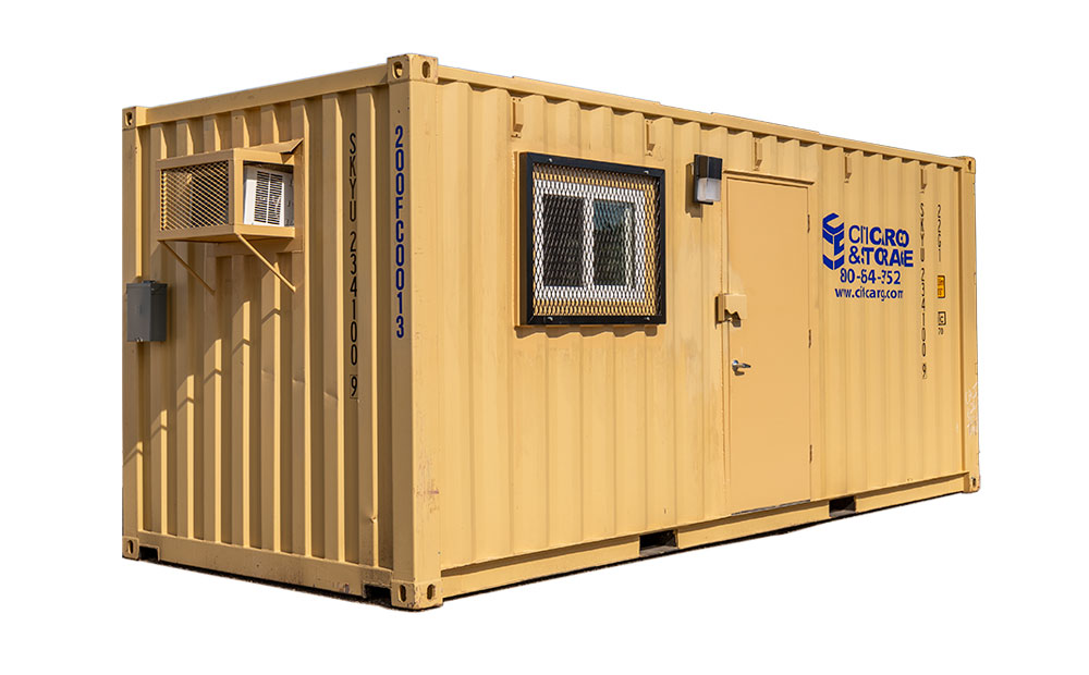 20 foot temporary office exterior