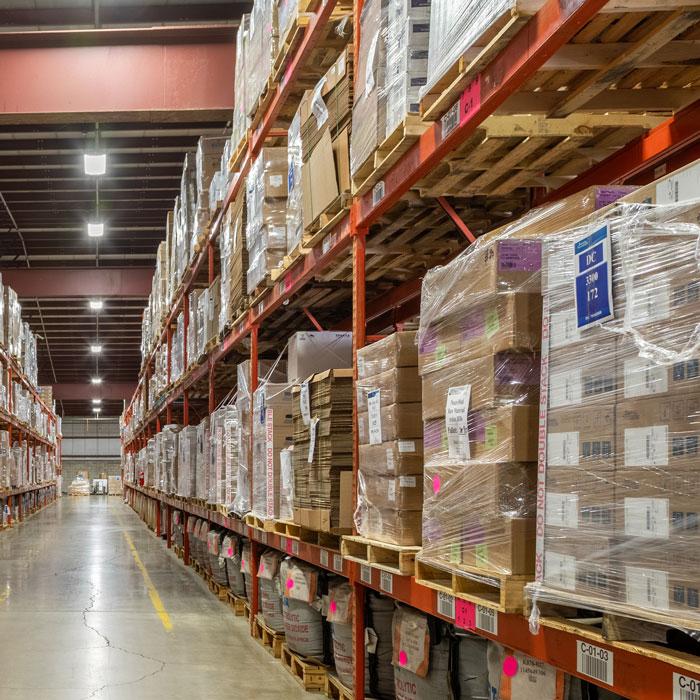 full warehousing racks